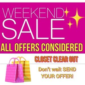 Other - JUNE 8-9th ONLY! Closet Discounts of 40%-70% !!!